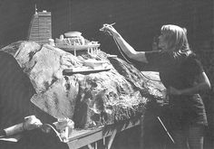 From Cinefex Magazine, Issue #49, this behind-the-scenes picture shows the creation of the models used for the previous Golden Gate Bridge shot, ...