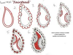 How to draw Paisley Flower 25 Fairstead by Quaddles-Roost.deviantart.com on @deviantART