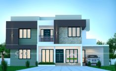 4 bedroom box model contemporary house architecture in an area of 2320 square feet by Dream Form from Kerala. Beautiful House Plans, Simple House Plans, Concept Architecture, Amazing Architecture, House Architecture, Modern Bungalow House Design, Architecture Magazines, Apartment Design, Exterior Design