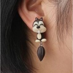 Cheap earring jackets for diamond studs, Buy Quality earring crystal directly from China earring clasp Suppliers: New Handmade Polymer Clay fashion new cute Cat Earring stud earring brincos earrings fashion jewelry Cute Polymer Clay, Handmade Polymer Clay, Crystal Earrings, Stud Earrings, Cute Squirrel, Cheap Earrings, Japanese Street Fashion, Diamond Studs, Jewelry Accessories