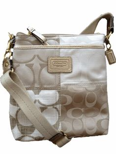 Coach Limited Edition Patchwork Swingpack Crossbody Bag Gold Multi