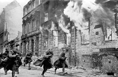 Berlin 1945 l This is just an incredible shot. It captures the chaos and panic of the last days of WW II,  and the end of the Third Reich.