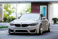 BMW F82 M4 white deep dish widebody