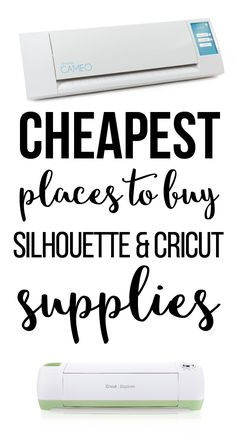 Sewing Craft Project Cheapest Places to Buy SIlhouette and Cricut Supplies - The cheapest places to buy Silhouette and Cricut supplies. Stop overpaying for vinyl and mats at craft stores! Grab supplies here. Plotter Silhouette Cameo, Silhouette Curio, Silhouette Machine, Silhouette Files, Silhouette Cameo Wedding, Silhouette Cameo Gifts, Canvas Silhouette, Free Silhouette, Silhouette School
