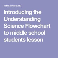 Introducing the Understanding Science Flowchart to middle school students lesson Scientific Method Steps, Science And Nature, Tack, Flowchart, Middle School, Horses, Students, Natural, Fun
