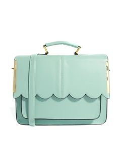 Image 1 of ASOS Satchel Bag With Scallop Bar Detail ...now go forth  share that Bow  Diamond style ppl! Lol. ;-) xx