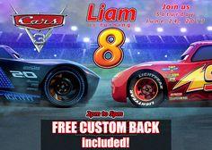 Cars 3 Birthday Invitation Cars 3 Party Cars 3 Birthday