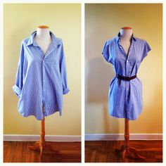 DiY Mens Shirt Dress from the Girl and Her City