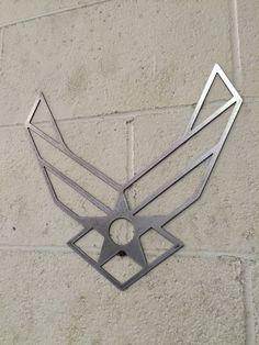 Air Force steel metal wall art by LewisMetalWorks on Etsy