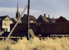 Edward Hopper, 1956 http://drawingowu.wordpress.com/2011/10/29/urban-visions-edward-hopper-and-charles-sheeler/1956-7/