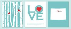 First Corinthians, Birch Tree Love Birds and State Silhouette Wedding or Anniversary Gift Set