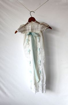 Vintage Christening Gown Baptism Baby Dedication by BabyofOld, $28.00