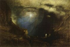 George Inness -  The Valley of the Shadow of Death (1867)