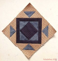 'Jack in the Pulpit' Miniature Block, The Quilt Room BOM