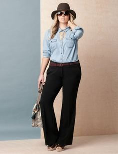 Crepe pant, go for more casual or pair with pumps for work... Womens' Top Looks | .ELOQUII