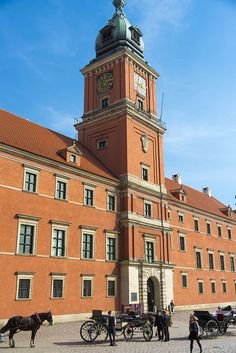 Warsaw old town, restored to its pre-WWII glory