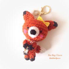 Amigurumi Koala Keychain : Handmade Crochet Bag Charm Crochet Elephant Key Chain ...