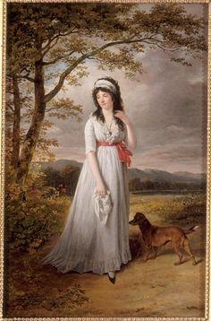 Queen Hortense walking in the country in 1790s.