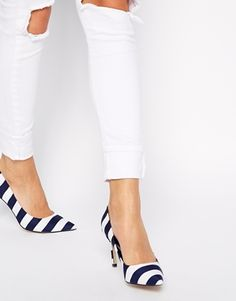 Speaking of stripes... I simply cannot get enough of these striped point courts, teamed with denim and you're on to a winner!  http://asos.do/5IhKSx