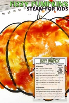 Looking for a fun fall theme art activity for preschoolers and elementary kids? This fizzy pumpkin art activity is a fun way to dig into a bit of science and art all at the same time! Make your own baking soda paint and enjoy a fizzing chemical reaction with this fall theme idea. Download our free printable pumpkin template below and let's get started! Preschool Art Activities, Halloween Activities For Kids, Art Activities For Kids, Holiday Activities, Pumpkin Uses, Pumpkin Art, Baked Pumpkin, Pumpkin Printable, Pumpkin Template