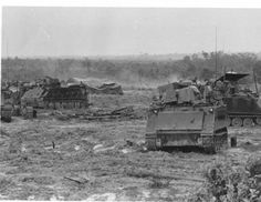 M113's of the 11th Cavalry in Vietnam.
