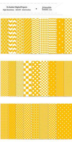 26 Amber Digital Paper Set Download from PrintableTreats.com