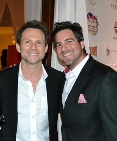 Legendary Actor Christian Slater and Evan Golden