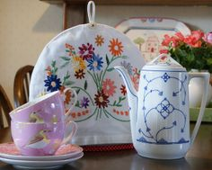 vintage embroidered tea cosy by dutch blue, via Flickr