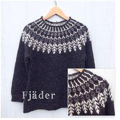 Ravelry: Fjäder pattern by Hanne Rimmen Knitting Charts, Free Knitting, Crochet Woman, Knit Crochet, Icelandic Sweaters, Big Knits, Knit Art, Fair Isle Knitting, Knitting Designs