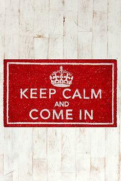 Keep Calm Door Mat