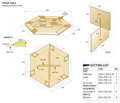86b3a8aa71ba0b78c500c04f5d6002c1 Night Table Octagon Poker Table Poker Table Plans Table Plans