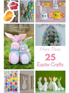 More than 25 Easter Crafts! Want to make a fun Easter Craft this year? Some are perfect for kids and others are meant just for adults.  Just click the one you want to learn more about and you'll go right to the site! Gifts for one and all!