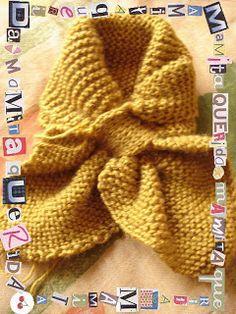 Mamita Querida: Gatitos a dos Agujas Crochet Scarves, Knit Crochet, Crochet Hats, Knitting Patterns, Crochet Patterns, Knitted Flowers, Knitting Accessories, Hair Band, Cowl