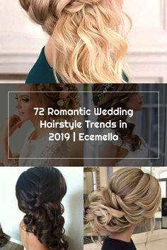 72 Romantic Wedding Hairstyle Trends in 2019 | Ecemella Wedding Hair Side, Romantic Wedding Hair, Hair Trends, Wedding Hairstyles, Dreadlocks, Hair Styles, Beauty, Hair Plait Styles, In Style Hair