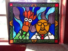 My friend makes stained glass and just created this masterpiece. Mee-mee-mee mee! - Imgur