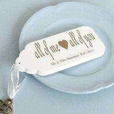 Personalised All of Me Key Tag