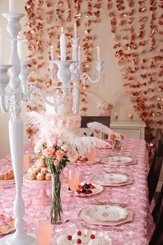 High Tea Dessert Tablescape from a Marie Antoinette Inspired Party on Kara's Party Ideas | KarasPartyIdeas.com (21)