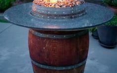 Barrel Fire Pit The Grand Wine Barrel Fire Pit Table: Fireglass, Fire Pits, Glass
