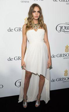 Cara Delevingne channels a Greek goddess at the 2015 Cannes Film Festival