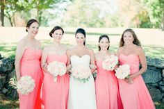 Photography: Brklyn View Photography - www.brklynview.com  Read More: http://www.stylemepretty.com/tri-state-weddings/2014/04/10/pink-wedding-at-glen-island-harbour-club/