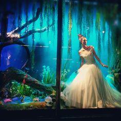Princess and the Frog Christmas window.  Harrods <3