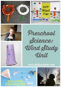 Preschool Science: Wind Study Unit | Stir the Wonder #kbn #preschool #science