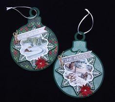 Christmas Gift Tags, Christmas Ornaments, Card Making, Holiday Decor, How To Make, Xmas Ornaments, Christmas Jewelry, Christmas Ornament, Christmas Baubles