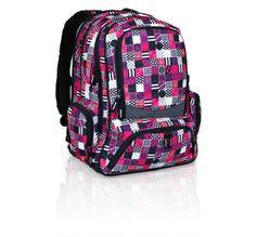 Trzykomorowy plecak młodzieżowy dla dziewczyn. Designerski motyw oryginalny od Topgal