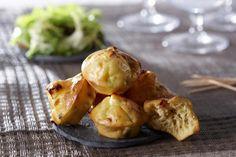 Recette de mini muffins au comté et aux lardons au Thermomix TM31 ou TM5. Réalisez cette entrée en mode étape par étape comme sur votre Thermomix !