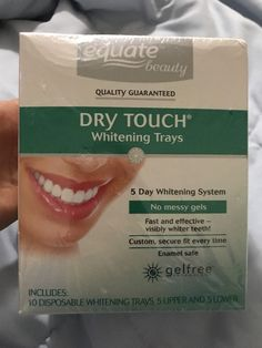 Equate Beauty 5 Day Whitening System Dry Touch Whitening Trays, 10 ct     #Equate