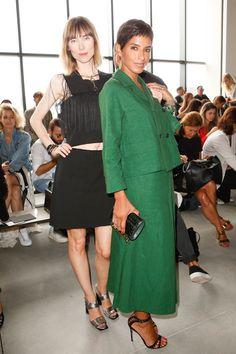 Calvin Klein Collection   Spring 2015 Front-row    Anya Ziourova, Princess Deena Abdulaziz