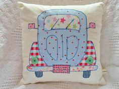 VW Beetle Cushion Patchwork Sewing Kit Cath Kidston Fabric Retro Sewintocrafts!