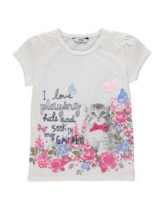 Floral Cat T-shirt | Girls | George at ASDA