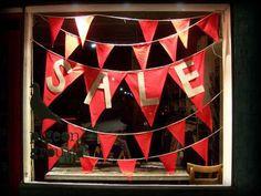 """""""SALE"""" bunting,pinned by Ton van der Veer"""